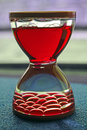 Red hourglass Royalty Free Stock Photo