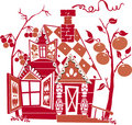 Red house Royalty Free Stock Photo