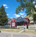 Red house a beautiful in silverton colorado Royalty Free Stock Photo