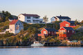 Red houses on Hamnoy island, Lofoten Islands, Norway Royalty Free Stock Photo