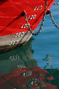 Red hull of a ship Royalty Free Stock Photo