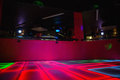 Red illuminated disco dance floor Royalty Free Stock Photo