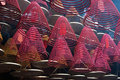 Red incense burners Royalty Free Stock Photo