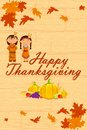 Red Indian wishing Thanksgiving Stock Images