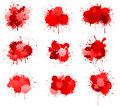 Red ink or blood blobs Royalty Free Stock Images