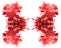 Red ink patterns. Royalty Free Stock Photo