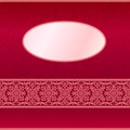 Red invitation card with ornament motif Stock Image