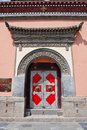 Red iron door in China