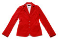 Red jacket Stock Images