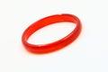 Red jade bracelet closeup shot Royalty Free Stock Image