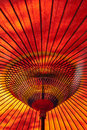 Red Japanese parasol Stock Photo