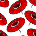 Red Japanese umbrellas Royalty Free Stock Photo