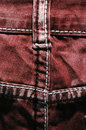 Red jeans background back detail grunge Stock Images
