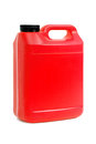 Red jerry can isolated on a white background Royalty Free Stock Image