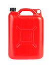 Red jerrycan isolated on white background Stock Photos