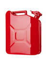 Red jerrycan isolated on white background Royalty Free Stock Photo