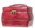 Red jewelery box Royalty Free Stock Photo