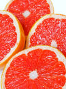 Red juicy grapefruit slices Royalty Free Stock Photography