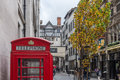 Red k telephone box london traditional type in kingly street off regent street in central england photograph taken november Royalty Free Stock Photo