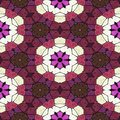 Red kaleidoscope pattern, many ornaments texture, seamless background