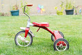 Red Kids Bike Stock Photography