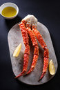 Red king crab legs Royalty Free Stock Photo