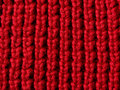 Red knit fabric Royalty Free Stock Photo