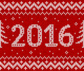 Red knit for new year vector seamless and white pattern Royalty Free Stock Photos