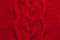 Red knitting background Royalty Free Stock Images