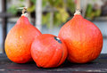 Red kuri squash Stock Photos
