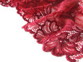 Red lace Stock Photography