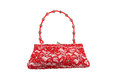 Red lace woman handbag Royalty Free Stock Images