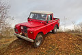 Red Land Rover Royalty Free Stock Photos