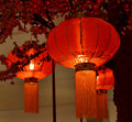 Red lantern chinese new year culturem asia Stock Photo