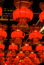 Red lanterns chinese during chinese new year festival Royalty Free Stock Photos