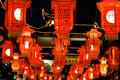 Red lanterns during chinese new year festival celebration Royalty Free Stock Photography