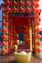 Red lanterns decorating the Chinese New Year Royalty Free Stock Photo