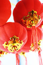 Red lanterns decoration Stock Image