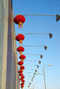 Red lanterns and lamps Royalty Free Stock Images