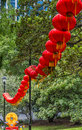 Red lanterns row of hung at the lantern festival in auckland Royalty Free Stock Image