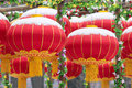 Red lanterns the were hung up in the spring festival chinese new year Royalty Free Stock Photography