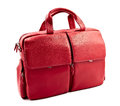 Red laptop bag isolated on white Royalty Free Stock Image