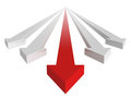 Red Leader Arrow of White Business Group Royalty Free Stock Images