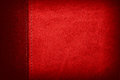 Red leather background or rough pattern texture Stock Photography
