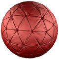 Red leather ball Stock Photos