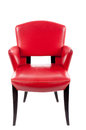 Red leather chair Royalty Free Stock Photo