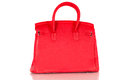 Red leather handbag Royalty Free Stock Image