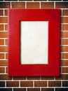 Red Leather picture frame Royalty Free Stock Image