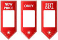 Red Leather Sale Tags With Blank Labels For Price