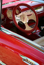 Red Leather Steering Wheel Royalty Free Stock Images